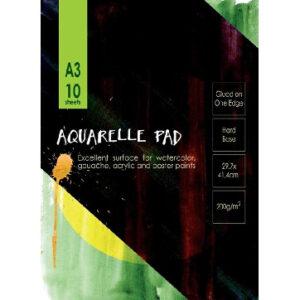 Альбом для акварели 10л, А3, ГОЗНАК, 200гр