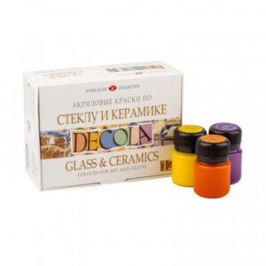 Набор акриловых красок по стеклу и керамике Декола 12х20 мл