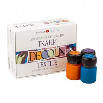Набор акриловых красок по ткани Декола