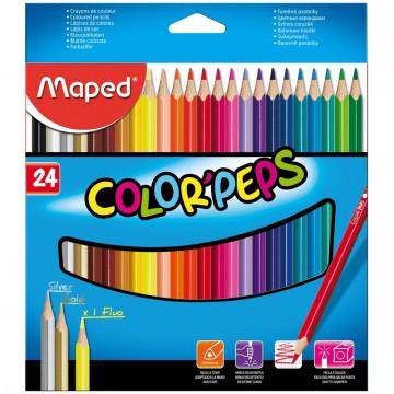 Карандаши цветные 24цв 3-гран Maped