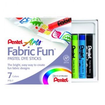 Пастель для рисования на ткани, 7 цв