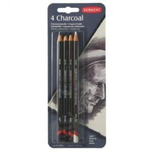Набор карандашей угольных Derwent Charcoal 4шт