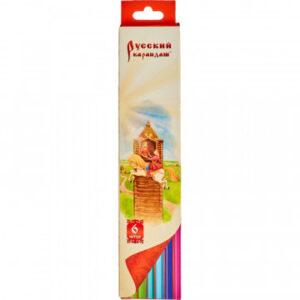 Карандаши цветные 6цв 6-гран Русский