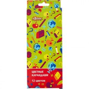Карандаши цветные Отличник 12 цв 6-гран.