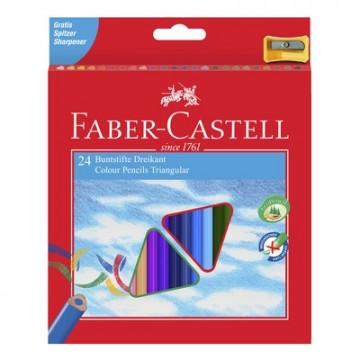 Карандаши цветные Faber-Castell Eco с точилкой 24 шт