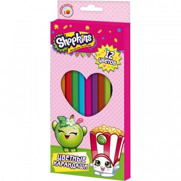Карандаши цветные Shopkins 12 цв