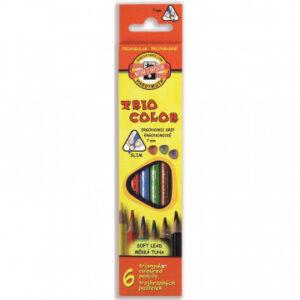 Карандаши цветные 6цв 3-гран Koh-I-Noor Triocolor