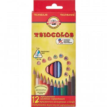 Карандаши цветные 12цв 3-гран Koh-I-Noor Triocolor