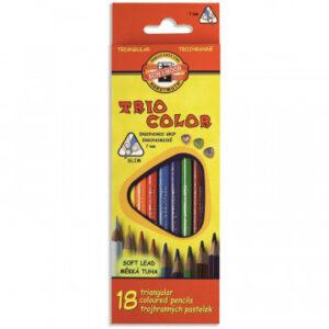 Карандаши цветные 18цв 3-гран Koh-I-Noor Triocolor