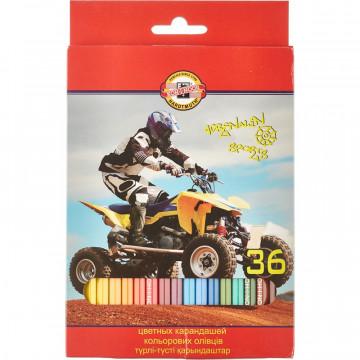 Карандаши цветные 36цв 6-гран Koh-I-Noor SPORT