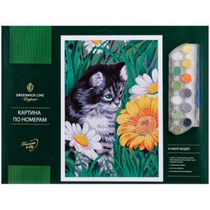 "Картина по номерам ""Котик в цветах"""