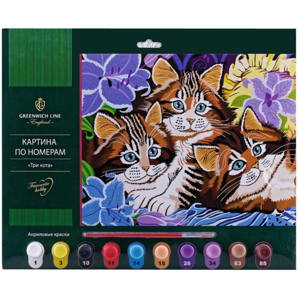 """Картина по номерам """"Три кота"""""""