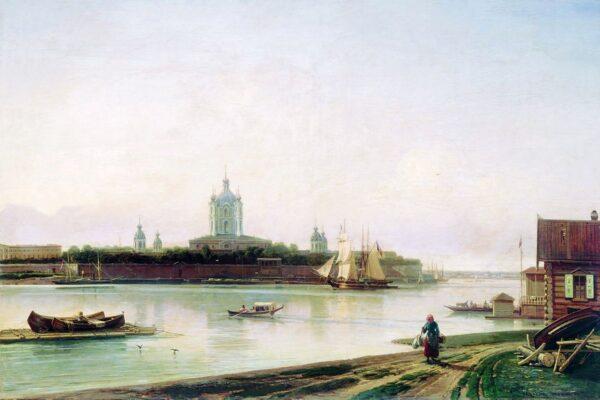 Алексей Боголюбов, Вид на Смольный монастырь с Большой Охты