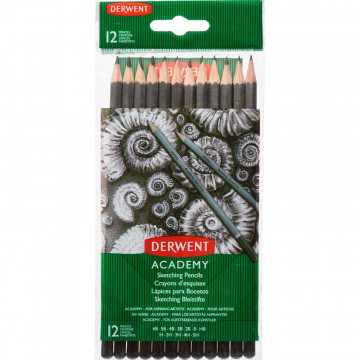 Набор карандашей черногр. Derwent Academy Sketching Hang Pack 12шт 5H-6B