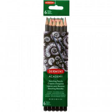 Набор карандашей черногр. Derwent Academy Sketching Hang Pack
