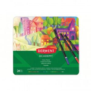 Карандаши цветные 24цв Derwent Academy Colour Pencil tin