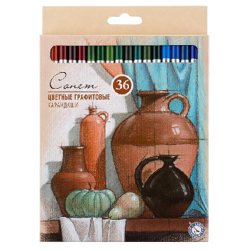 Набор карандашей цветные Сонет, 36 цв., графитовые
