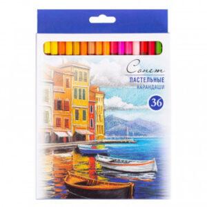 Карандаши цветные пастельные Сонет, 36 цветов