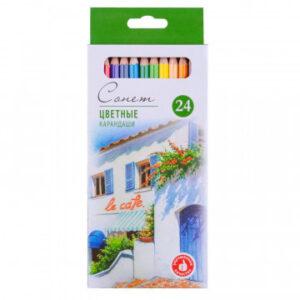 Карандаши цветные Сонет, 24 цвета