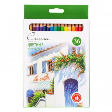 Карандаши цветные Сонет, 36 цветов