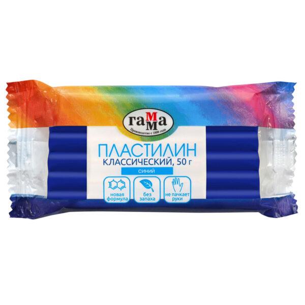 "Пластилин Гамма ""Классический"", синий, 50г"