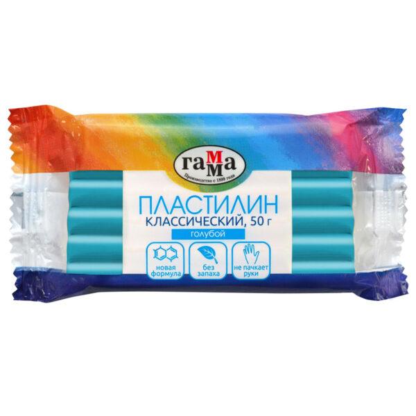 """Пластилин Гамма """"Классический"""", голубой, 50г"""