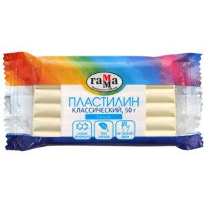 """Пластилин Гамма """"Классический"""", белый, 50г"""