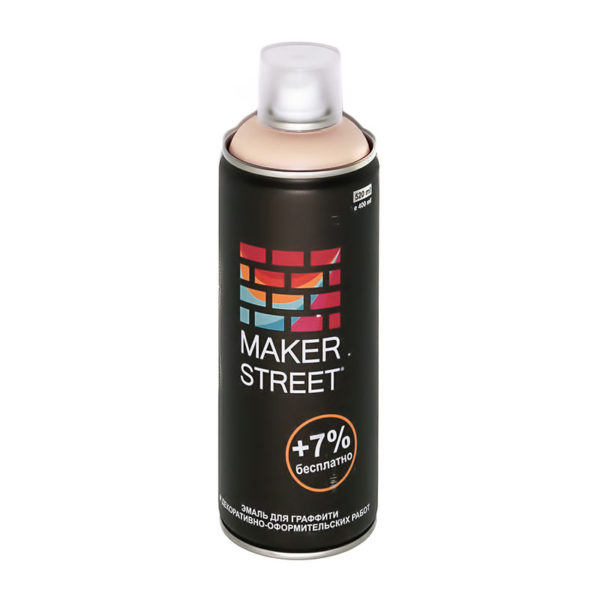 """""""MAKERSTREET"""" Эмаль для граффити и декоративно-оформительских работ MS400 400 мл 300 Розово-телесный"""