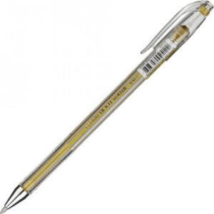 Ручка гелевая золото металлик CROWN, 0,7мм