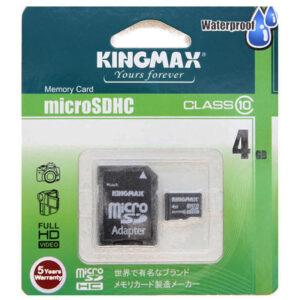 Карта памяти Kingmax microSDHC Class 10 Card 4GB + SD adapter