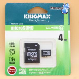 KINGMAX 4GB MICRO SDHC CLASS 10 + SD АДАПТЕР