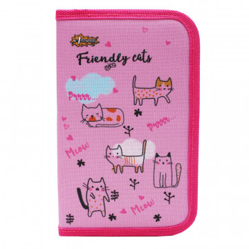 Пенал №1School Friendly cats односекц., ткань, 190x115 см