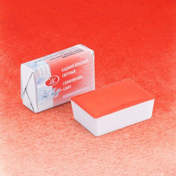 Кадмий красный светлый акварель 302 Белые ночи кювета 2,5 мл