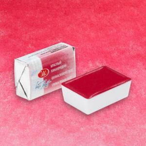 Красный хинакридон акварель 361 Белые ночи кювета 2,5 мл