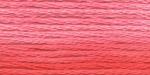"""Нитки для вышивания """"Gamma"""" мулине меланж 100% хлопок 8 м, Р-22 морковный-св.розовый"""