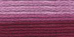 """Нитки для вышивания """"Gamma"""" мулине меланж 100% хлопок 8 м, Р-27 бордовый-св.розовый"""