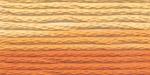 """Нитки для вышивания """"Gamma"""" мулине меланж 100% хлопок 8 м, Р-38 желтый-т.оранжевый"""