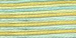 """Нитки для вышивания """"Gamma"""" мулине меланж 100% хлопок 8 м, Р-44 желтый-бл.голубой"""
