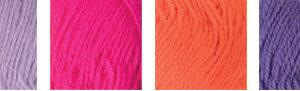 """Пряжа """"Hobbius"""" Simple 100% акрил 4 х 25 г 66 м ± 3 м №03 сиреневый-розовый-оранжевый-фиолетовый"""