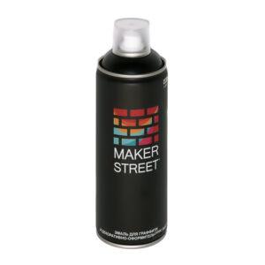 """""""MAKERSTREET"""" Эмаль для граффити и декоративно-оформительских работ MS400 400 мл 001 Черный матовый"""