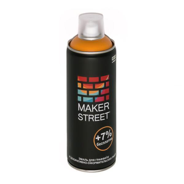 """""""MAKERSTREET"""" Эмаль для граффити и декоративно-оформительских работ MS400 400 мл 205 Темно-желтый"""