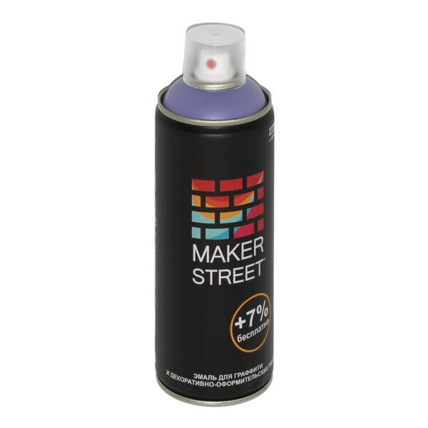 """""""MAKERSTREET"""" Эмаль для граффити и декоративно-оформительских работ MS400 400 мл 406 Сиренево-синий"""