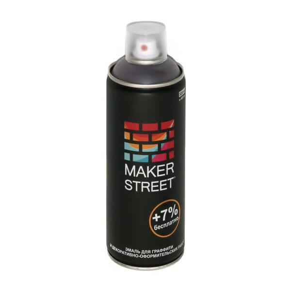 """""""MAKERSTREET"""" Эмаль для граффити и декоративно-оформительских работ MS400 400 мл 701 Темно-серый"""