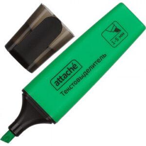 Маркер выделитель текста Attache Colored 1-5мм зеленый