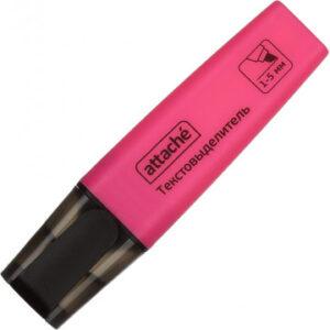 Маркер выделитель текста Attache Colored 1-5мм розовый