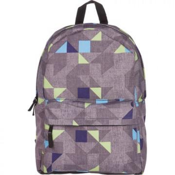 Рюкзак молодежный №1 School Серые треугольники