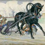 Конь, запряженный в санки