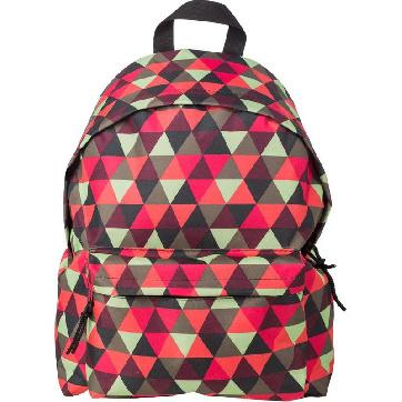 Рюкзак молодежный №1 School красно-зеленые треугольники