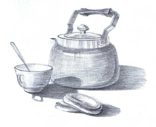 Наброски и зарисовки бытовых предметов