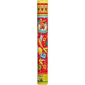 Пневмохлопушка Цветы фольгированные и серпантин бумажный 40 см